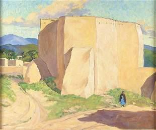 NAN SHEETS (American 1885-1976), Ranchos Church,
