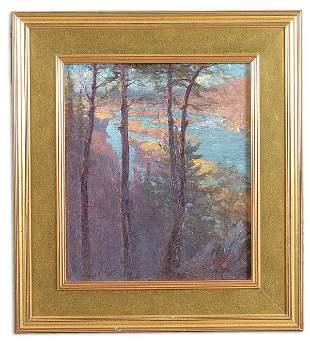 HAL ROBINSON (American 1875-1933) Scenic River Ov