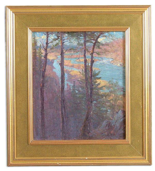 10: HAL ROBINSON (American 1875-1933) Scenic River Ov