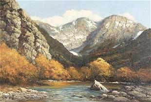 ROBERT WOOD (American 1889-1979) Colorado Peaks,