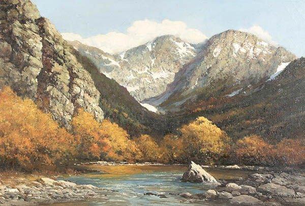 13: ROBERT WOOD (American 1889-1979) Colorado Peaks,
