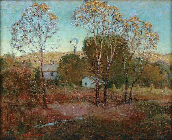 14: GRANT WOOD (American 1892-1942), Windmill, oil on