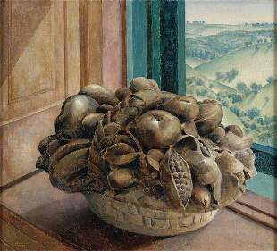 MARVIN CONE (American 1891-1965) Stone Fruit, oil