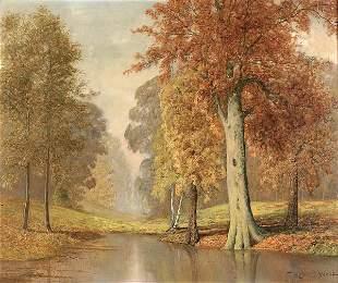 ROBERT W. WOOD (American 1889-1979), Fall Landsca