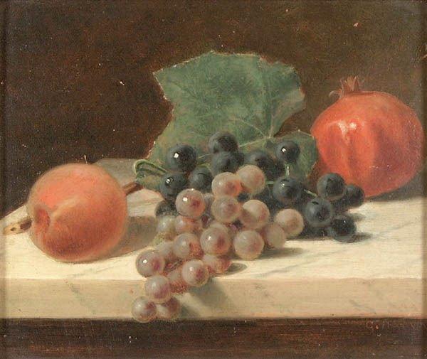 22: GEORGE HARVEY (American 1835-1920) Still Life wit