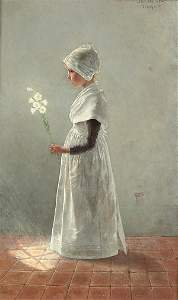 108: THEODOR GRUST (German 1859-1919) Easter Lilies, c