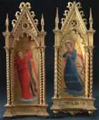 After FRA ANGELICO (Italian 1387-1455) A pair of