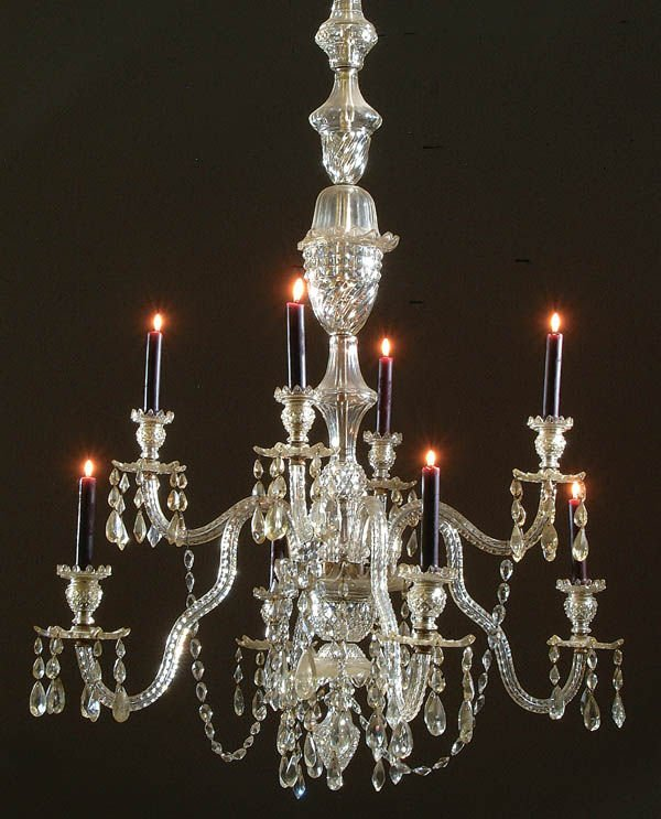 658: A LARGE AND IMPRESSIVE 19TH C. CUT CRYSTAL CHANDE