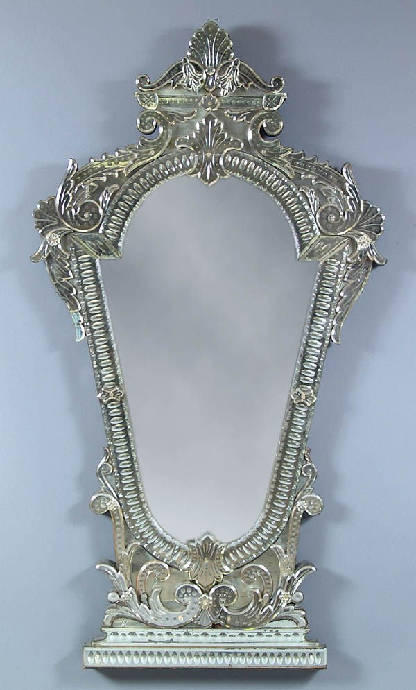 671: A SPECTACULAR BAROQUE STYLE CUT AND APPLIED GLASS