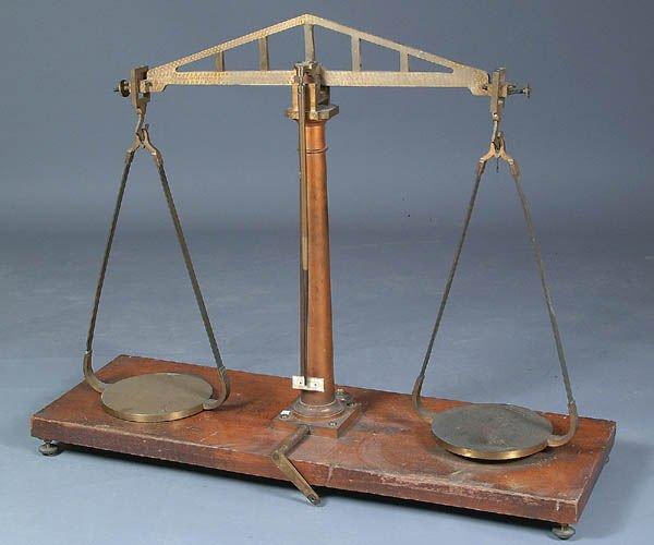 674: A LARGE AND IMPRESSIVE HENRY TROEMNER SCIENTIFIC