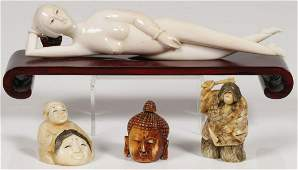 A CHINESE CARVED DOCTOR'S MODEL, 19TH C