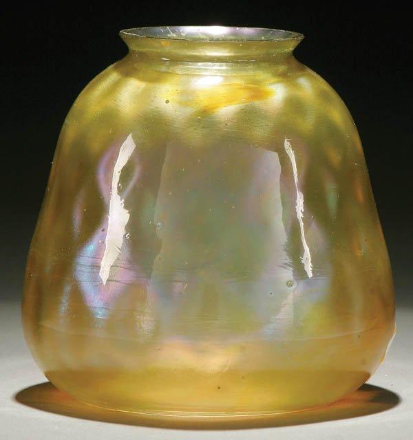 4: A TIFFANY FAVRILE ART GLASS SHADE