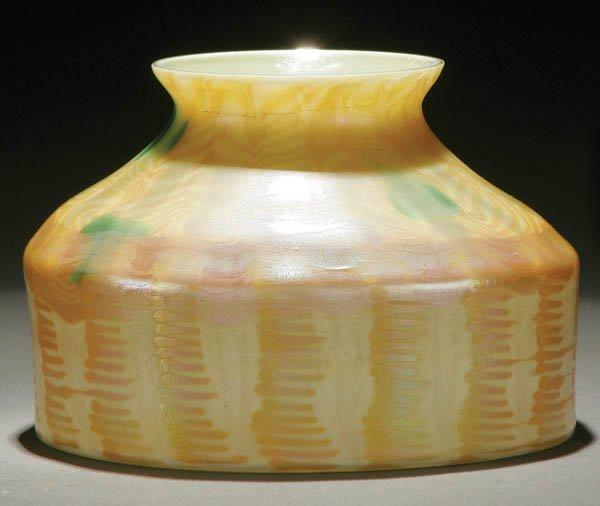 8: A VERY FINE TIFFANY FAVRILE ART GLASS SHADE