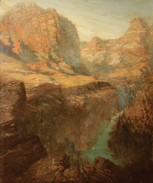 786: JOHN MILLER WHITE (American 19th century) Canyon V