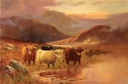 796: CHARLES W. OSWALD (Brit. 19th C) Scottish Highland