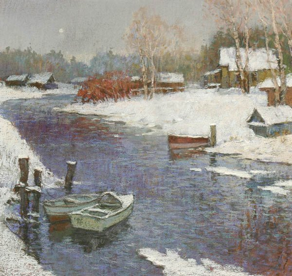 "800: NORWEGIAN SCHOOL ""Winter Twilight""  (20th century)"