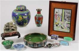 CHINESE CLOISSONE, PORCELAIN, & OTHER