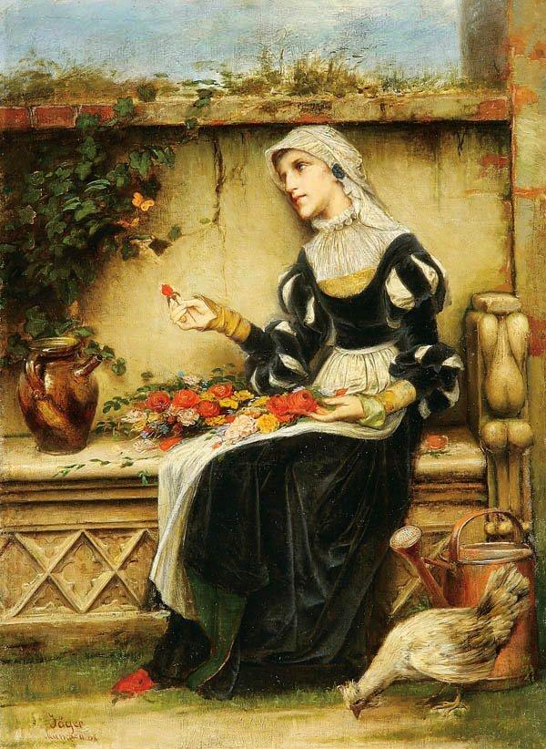 11: Fredrich Jager (German 1833-1888) Lovesick--1881