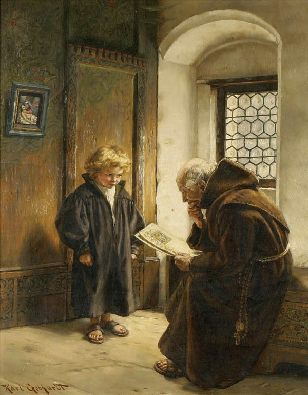 12: Karl Gephardt (German 1860-1917) The Young Scribe
