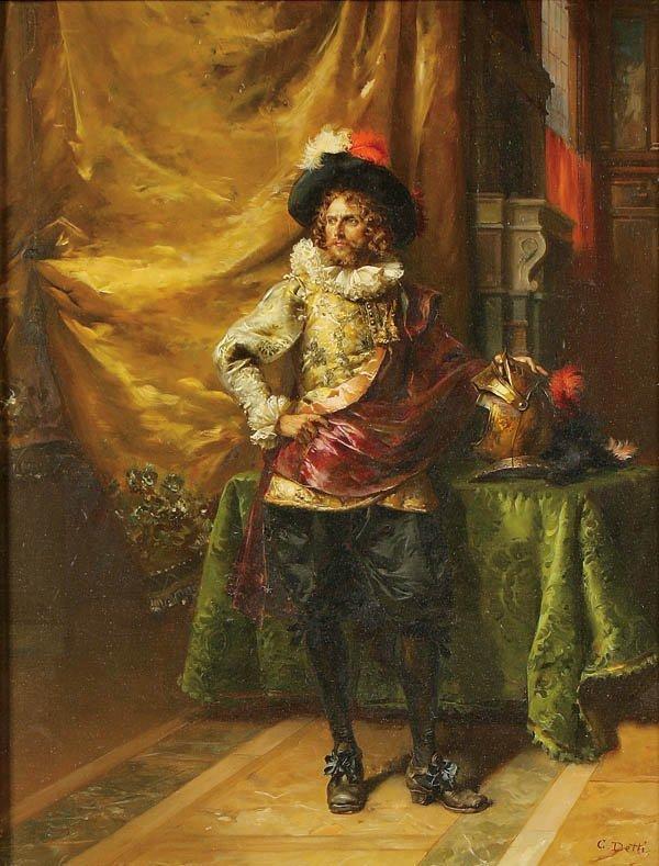 17: Cesare Auguste Detti  (1847-1914) Noble Knight