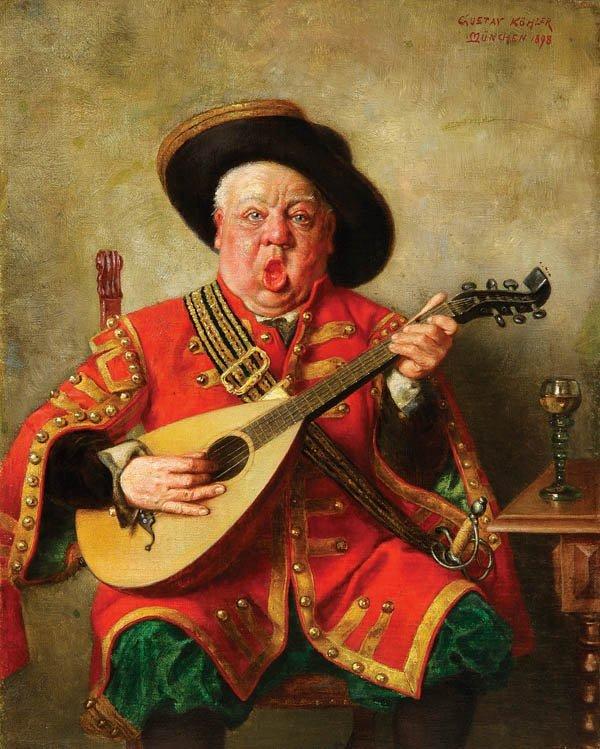 18: Gustav Kohler (German 1859-1922) The Troubadour