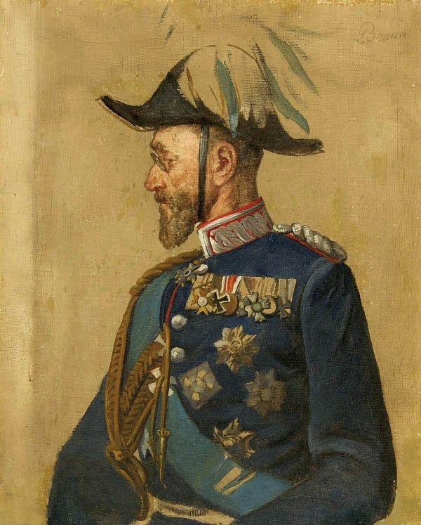 20: Louis (Ludwig) Braun (German 1836-1916) Portrait