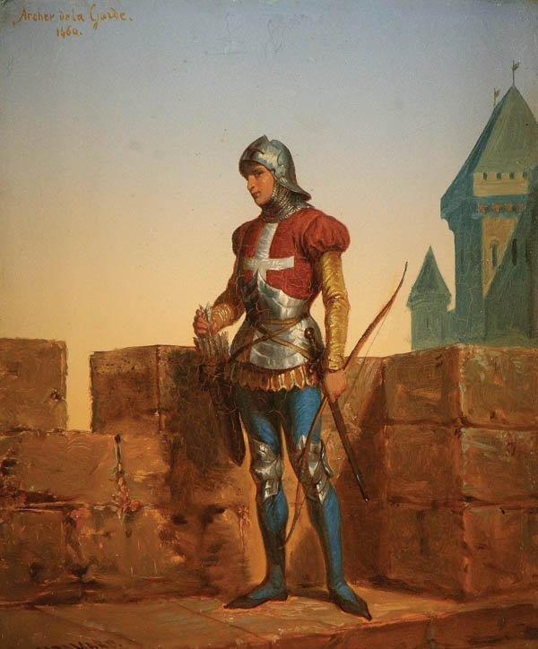 21: Auguste Hadamard (French 1823-1886) The Archer's