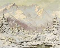 227 Laszlo Neogrady Hungarian 19001962 Winter Moun