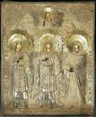 412: RUSSIAN ICON: Selected Female Saints depicting th