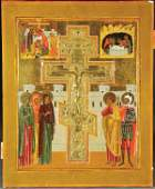 426 RUSSIAN ICON The Crucifixion the painted panel
