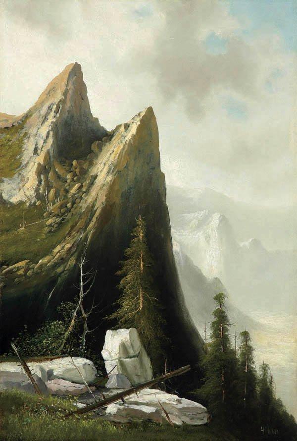 463: Thomas Hill (American 1829-1908) Yosemite Valley
