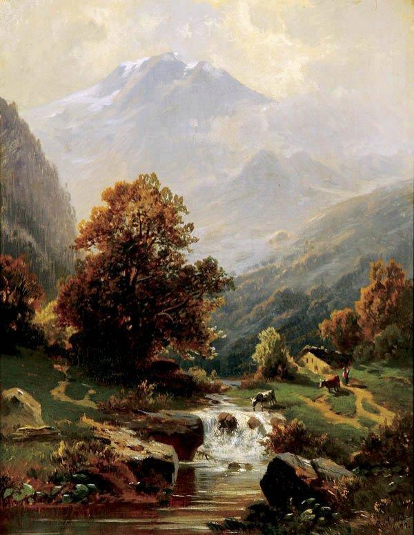 467: Carl Weber (American 1850-1921) Mountain Landscap