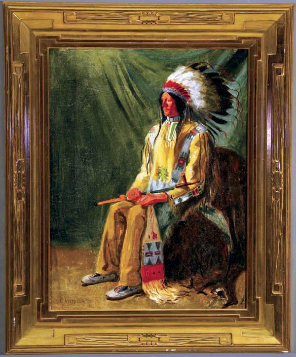 473: Frederick Weygold (American) Sioux Indian Chief