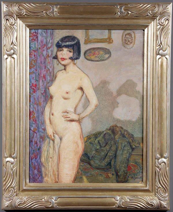 478: Oskar Gross (American 1871-1963) A Flapper Girl