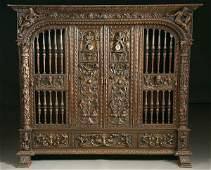 618 CARVED WOOD HUNTING LODGE LIBRARY FURNITURE