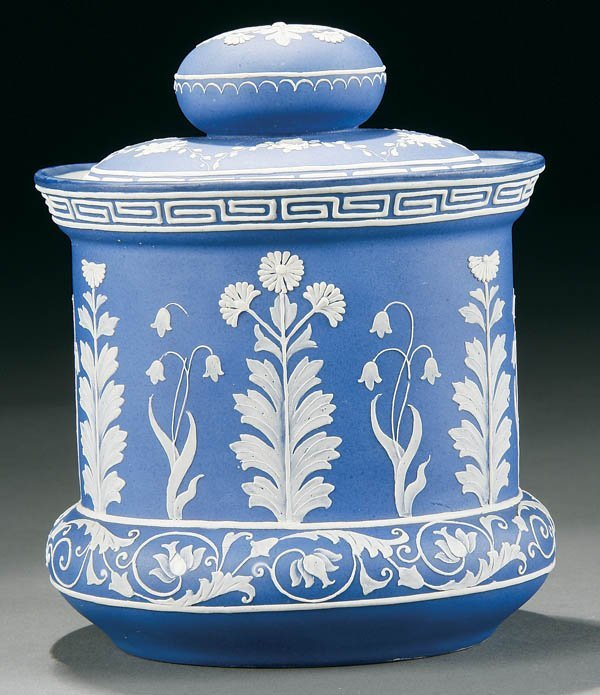 11: A NIPPON WEDGWOOD DECORATED HUMIDOR