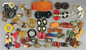 499: A LARGE BAKELITE AND EARLY JEWELRY COLLECTION ear
