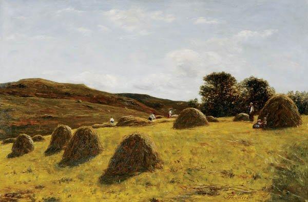 708: Joseph Henderson (Scottish 1832-1908) Making Hay