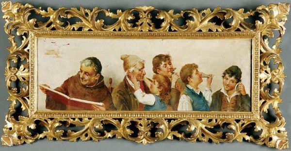 712: E. Torrini (Italian) A Festive Gathering--1895 Oi