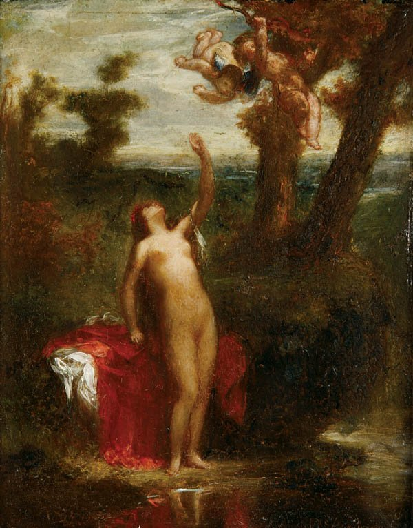 716: J. Pierre Andrieux (1821-1892) Nude Woman with Ch
