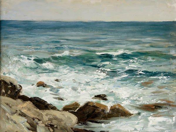 721: Otto-Friedrich Leu (German/Swiss 1855-1922) A Roc