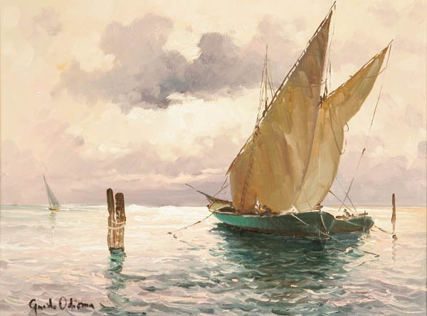 722: Guido Odierna (Italian b. 1913) Quiet Waters Oil