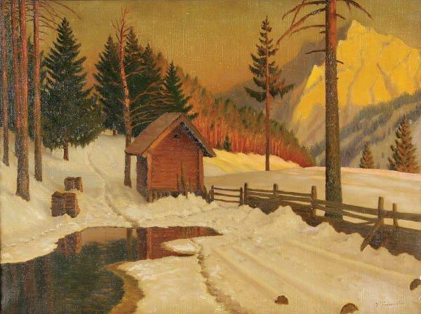 725: Victor Emanuelov (Russian 1884-1940) Winter Dusk