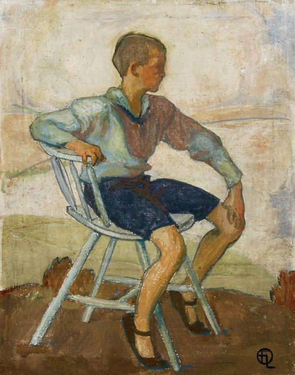 729: French School  Portrait of a Seated Boy--circa 19