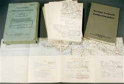 1435: A GERMAN WWII MILITARY MAP set for NW France, dat