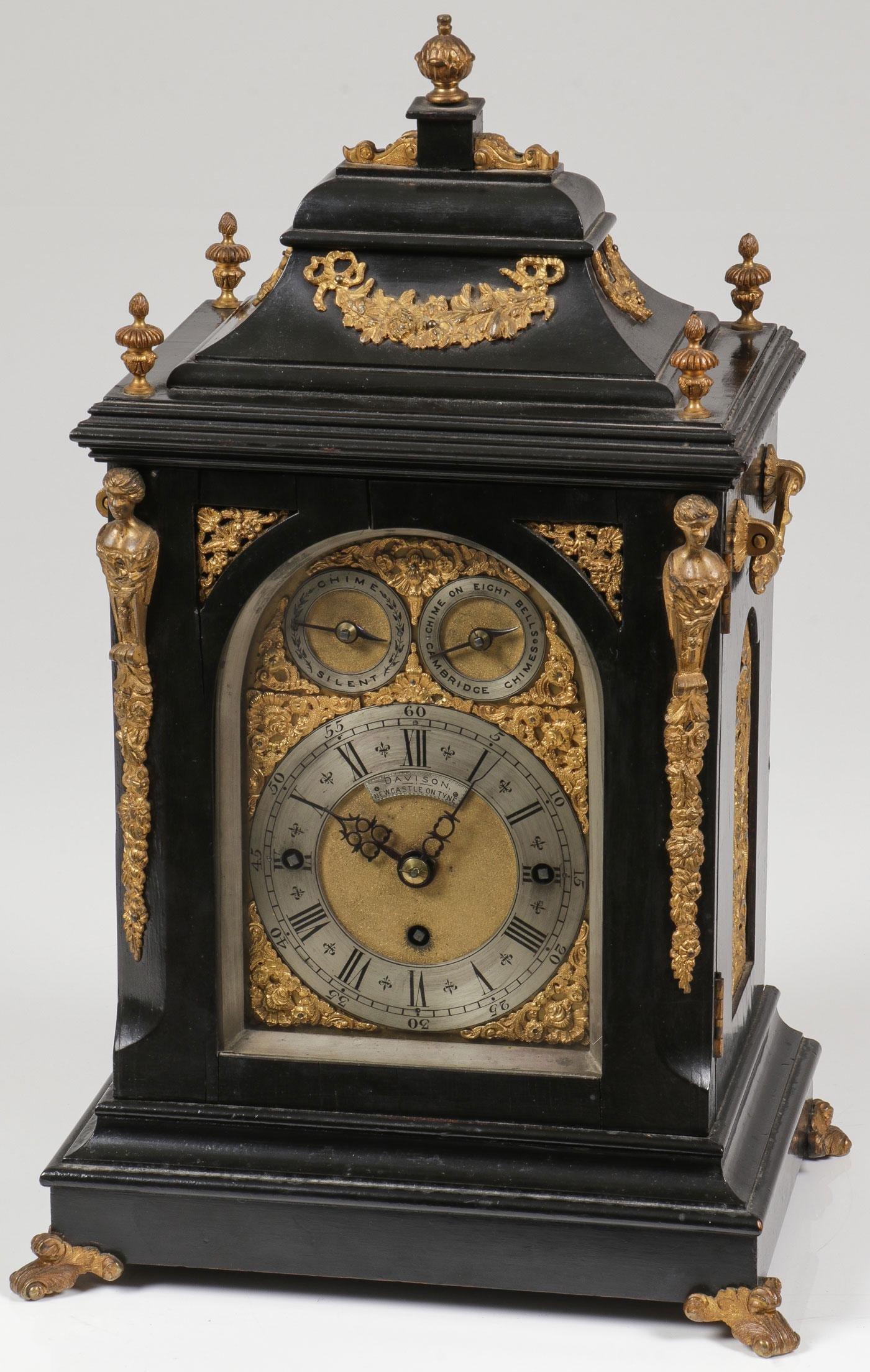 FINE ENGLISH BRACKET CLOCK, 19TH C