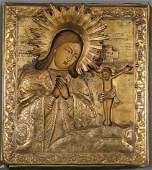 FINE RUSSIAN ICON OF THE MOTHER OF GOD, 18TH C