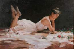 AN ORIGINAL OIL PAINTING BY AN HE, 1994