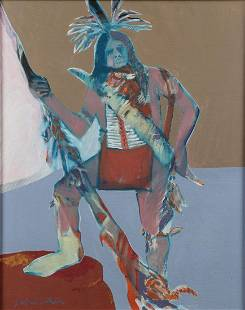 LARGE FRITZ SCHOLDER OIL PAINTING