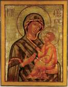 247: RUSSIAN ICON: The Tikhvin Mother of God, 18th cen